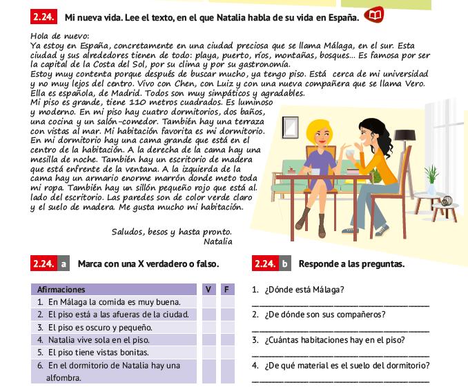 Texto Final - La casa de Natalia - Libro de Español Arriba A1