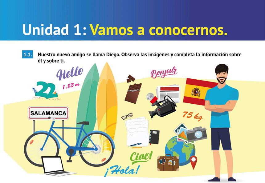 Intro Unidad 1 Libro de Español Arriba A2